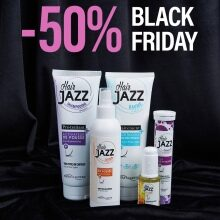 Black Friday nabídka: HAIR JAZZ Lotion & šampon + serum + kondicionér s kyselinou hyaluronovou + vitamínový a minerální komplex