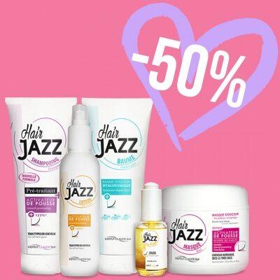 Valentýn! HAIR JAZZ Lotion & šampon + serum + maska + kondicionér s kyselinou hyaluronovou