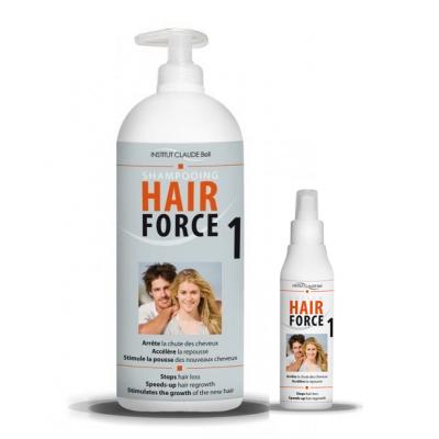Šampon HAIR FORCE ONE Professional. Šampon HAIR FORCE ONE (1 l) + HAIR FORCE lotion (150 ml)